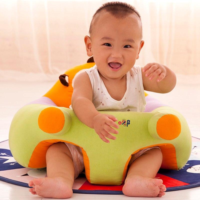 [해외]베이비 시트 & amp; 소파 만 커버 없음 충전식 유아용 의자 유아 둥지 퍼프 어린이 빨기 가능 어린이 콩 가방 만화 피부 고급 어린이/Baby Seats & Sofa Only Cover No Filling Baby Chair Toddler Ne