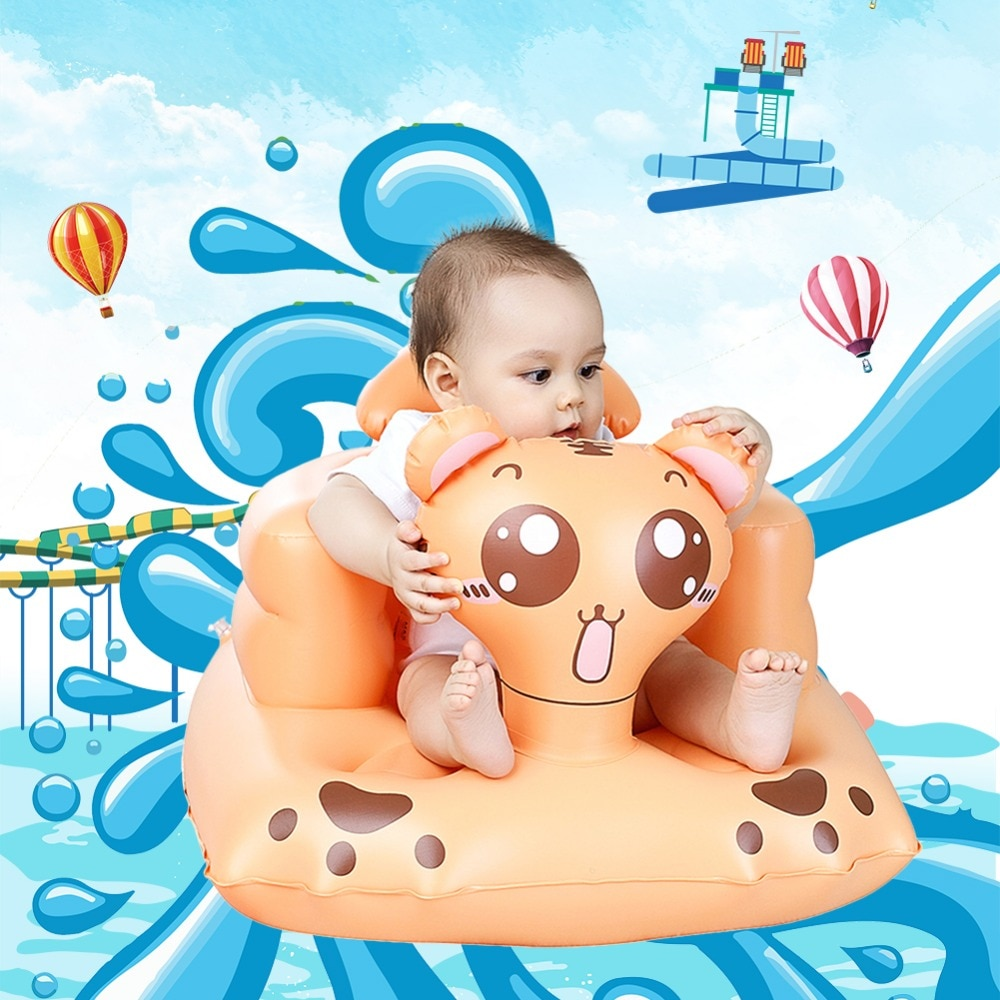 [해외]만화 다기능 아기 좌석 풍선 의자 소파 좌석 아기 용 푸시 베이 유아용 휴대용 욕조 의자/Cartoon Multifunctional Baby Seat Inflatable Chair Sofa Bath Seats Dining Pushchair  Infant Port