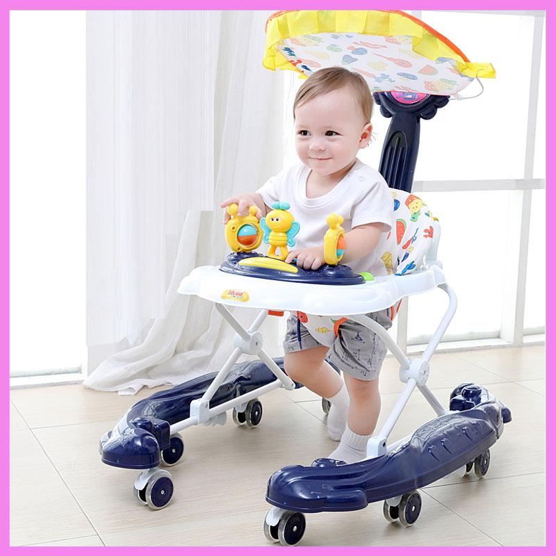 [해외]유아 아기 베이비 워커 다기능 안티 롤오버 핸드 푸시 베이비 학습 워커 8 휠 뮤직 송 워커 유모차/Infant Child Baby Walkers Multi-function Anti Rollover Hand Push Baby Learning Walkers8 Wh