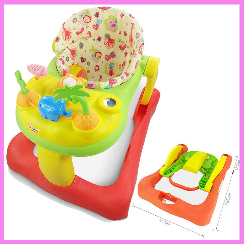 [해외]유아 베이비 WalkerWheels U 형 안티 롤오버 아기 학습 워커 핸드 푸시 CarMusic 접는 워킹 어시스턴트 018/Infant Baby WalkerWheels U-type Anti-rollover Baby Learning Walkers Handpus