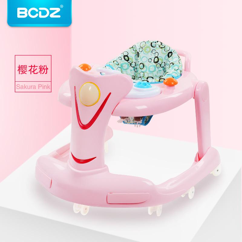 [해외]핑크 소녀 패션 아기 학습 워커 다기능 안티 롤오버 아기 음악 핸드 푸시 접는 학습 자동차 워커/Pink Girl Fashion Baby Learning Walker Multi-function Anti-rollover Baby Music Hand Push Fol