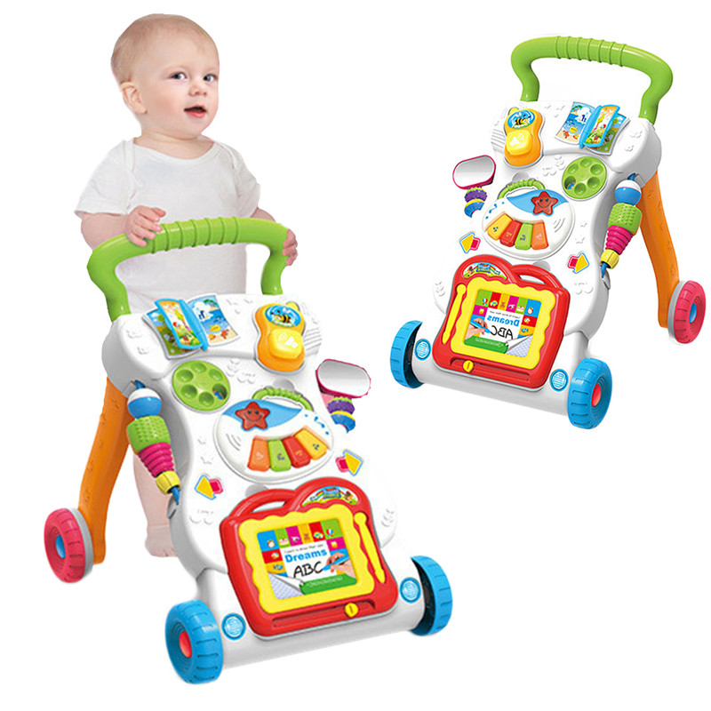 [해외]아기 앉아서 스탠드 학습 워커 트롤리 다기능 음악 속도 조정 도보 0-2 세를교육 자동차 장난감/Baby Sit-to-Stand Learning Walker Trolley Multi-function Musical Speed Adjustment Walking Tr