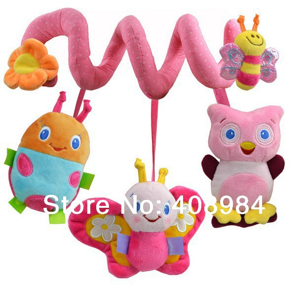 [해외]?/ pink Multifunctional  bed car hanging  BB device / ring paper / teeth glue Baby Rattles/baby mobiles