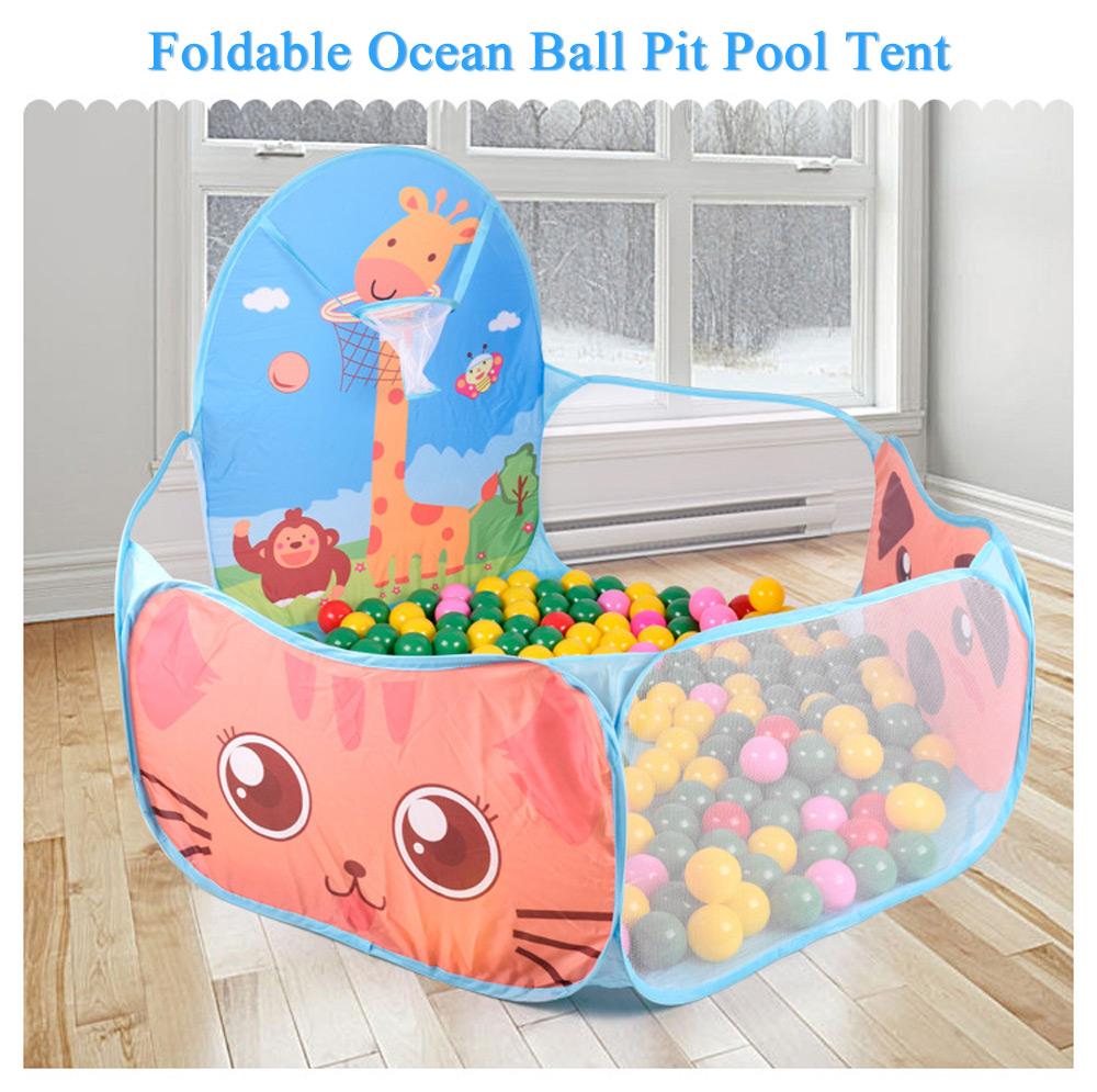 [해외]새로운 Foldable 오션 볼 구 덩이 풀 아이를휴대용 장난감 텐트 집 놀이 세트 장난감과 재밌는 장난감/New Foldable Ocean Ball Pit Pool Portable Toy For Kids Tent House Play Set Toy  And Fu