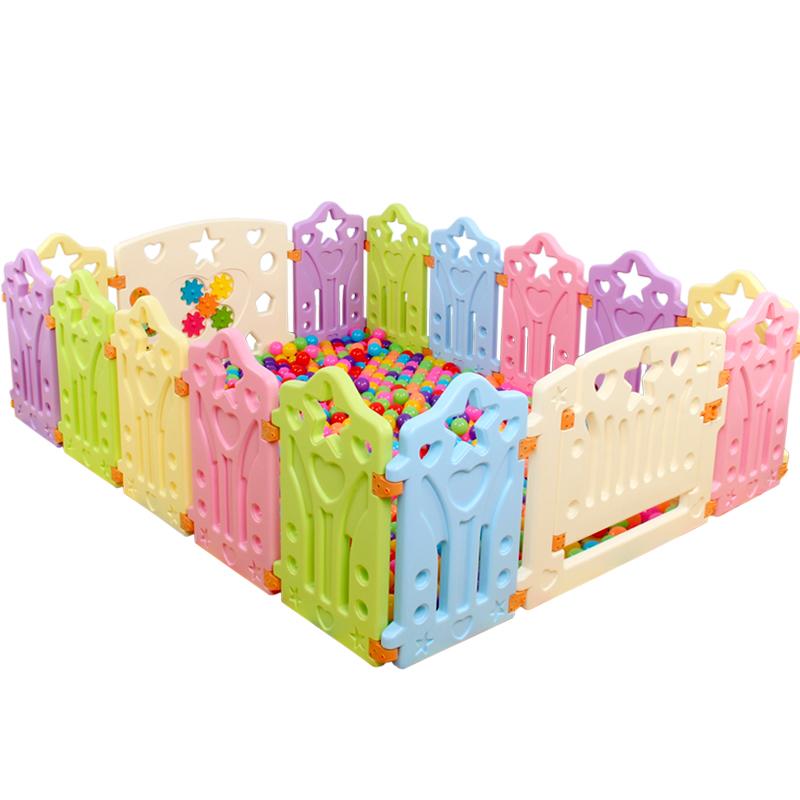 [해외]12pcs 아기 playpen 14pcs 아기 게임 울타리 플라스틱 다채로운 냄새 아기 활동 안전 가드/12pcs baby playpen 14pcs baby game fence plastic colorful no smell baby activity safety