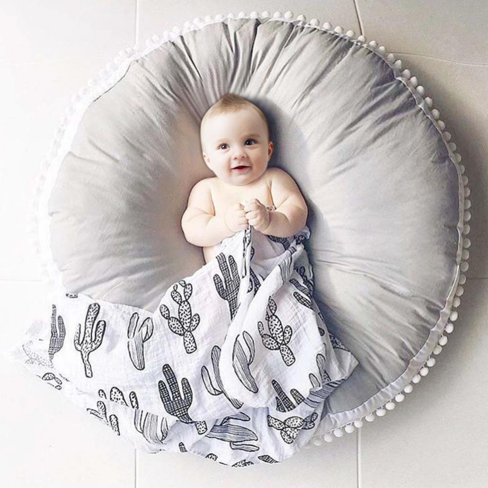 [해외]순수 목화 모직 볼 직물 두꺼운 아이 카펫 아기 라운드 놀이 미친 어린이 & 룸 장식/Pure Cotton Woolen Ball Fabric Thickened Children Carpet Baby Round Play Mad Children&s Room D