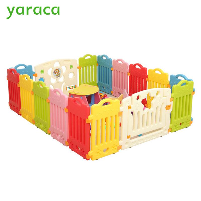 [해외]아기를울타리 울타리 아기 놀이터 울타리 어린이를울타리 Playpen Play Yard Indoor Plastic Fence Kids/Baby Playpens Fencing For Children Baby Safety Fence Safety Barriers For