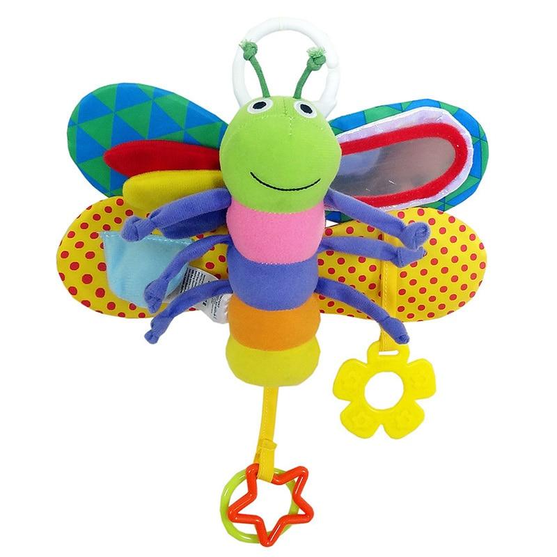 [해외]0-12 개월 유아 장난감 유모차 침대 교수형 나비 핸드벨 모바일 신생아 -30 유아 조기 교육 봉제 완구/Playpen 0-12 Month Baby Toys Stroller Bed Hanging Butterfly Handbell Mobile Rattle Ear