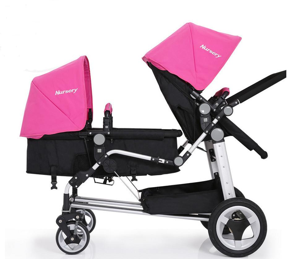 [해외]2017 아기 쌍둥이 유모차 견인 아기 진공 타이어 유모차 휴대용 쌍둥이 쌍수 좌석을 조정하는 버기 다중 국가 특별 차/2017 Baby Twins Strollers Tow Baby Vacuum Tire Stroller Portable Twins Buggy Mu
