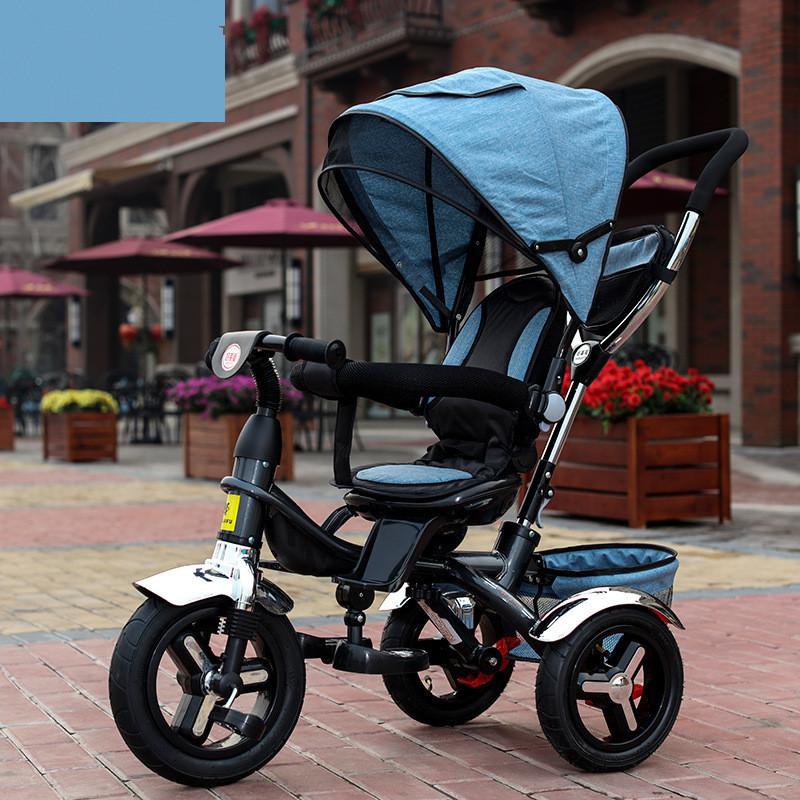[해외]2017 어린이 삼륜차 유모차 3 륜 유모차 유모차 3 륜 캐리비안 아기 유모차 자전거 6 개월부터 6 세까지/2017 kids Tricycle Pram 3 wheel Baby Stroller Child Three Wheels Carriage Baby Buggy