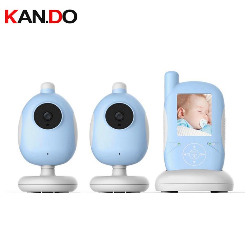 [해외]아기 Mnoitors IR 야간 시계 온도 모니터 Touchable 키 아기 인터폰 VOX 먹이 경보 아기 모니터 2 카메라 모니터/Baby Mnoitors IR Night vision Temperature Monitor Touchable Key Baby Int