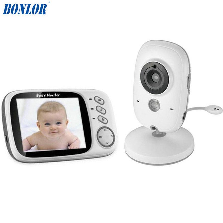 [해외]BONLOR 3.2 인치 무선 비디오 컬러 베이비 모니터 고해상도 아기 보모 보안 카메라 야간 투시 온도 모니터링/BONLOR 3.2 inch Wireless Video Color Baby Monitor High Resolution Baby Nanny Secur
