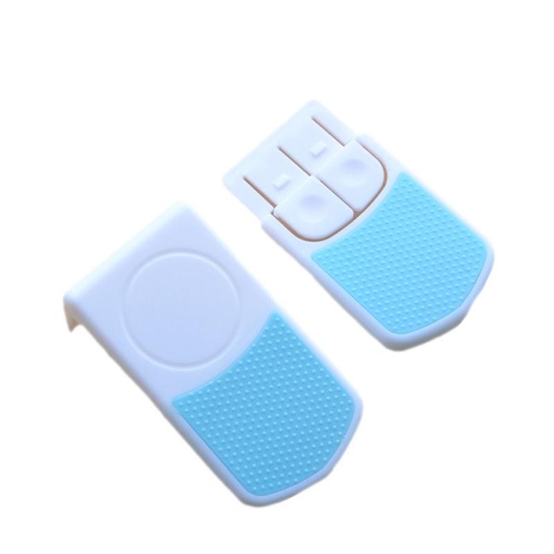[해외]2 PCS / LOT 패션 슈퍼 스티커 외부 모양 서랍 냉장고 잠금 사각형 스냅 더블 아기 어린이 안전 잠금 장치/2 PCS/LOT  Fashion Super Sticky External Appearance Drawer Refrigerator Lock Recta