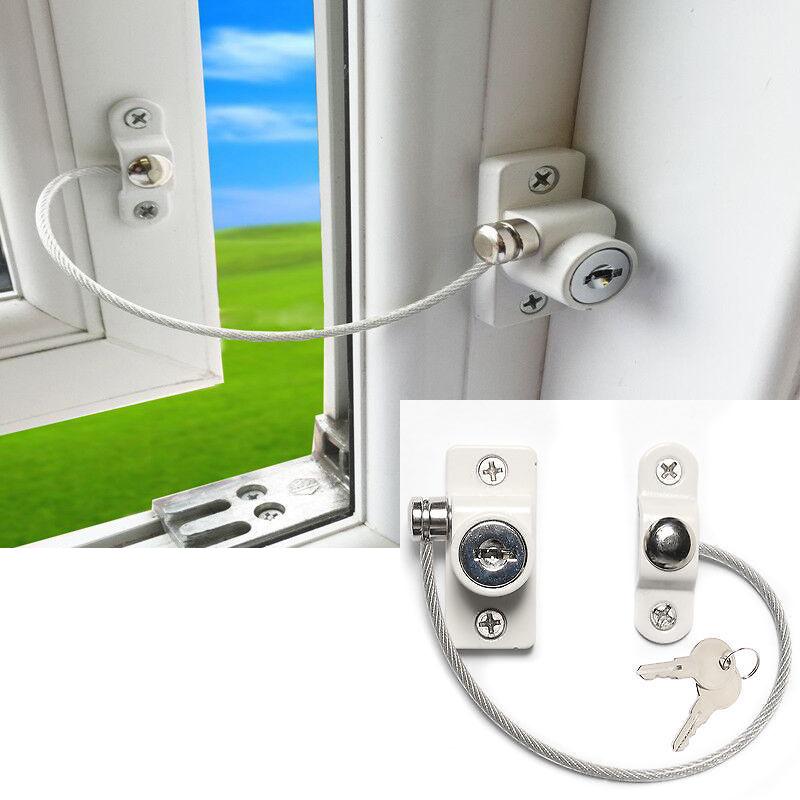 [해외]1pcs 아기 안전 잠금 창 문 케이블 인공 호흡기 어린이 잠금 어린이 보안 잠금 키잉 개방 제한 아기 보호/1pcs Baby Safety Lock Window Door Cable Ventilator Kids Lock Child Security Locking K