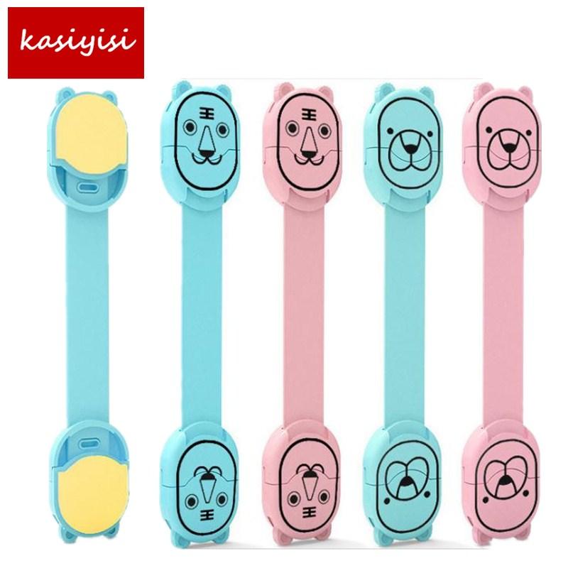 [해외]4Pcs / lot 만화 아기 보안 서랍 잠금 다기능 안전 잠금 플라스틱 어린이 귀여운 문을 도어 잠금 자물쇠/4Pcs/lot Cartoon Baby Security Drawer Lock Multi Function Safety Lock Plastic Childr