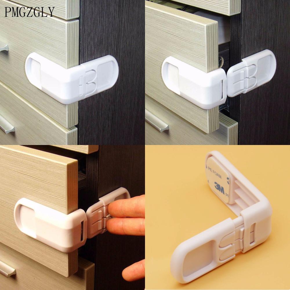 [해외]4pcs 베이비 어린이 키즈 안전 보호 서랍 캐비닛 도어 직각 코너 잠금 어린이 보안 제품 하드 플라스틱/4pcs Baby Child Kids Care Safety Protection Drawer Cabinet Door Right Angle Corner Lock