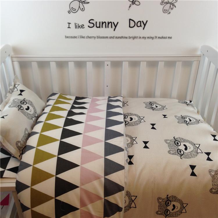 [해외]인 유아용 침대 침대 100 % 코튼 3pcs 아기 침대 세트는 베개 케이스 + 침대 시트 + 충전물없는 이불 커버 포함/Ins crib bed 100% cottotton 3pcs baby Bedding set include pillow case+bed shee