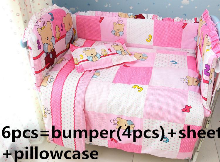 [해외]추진 6PCS 100 %면 아이 아기 어린이 침대 세트 제품 유아 만화 침대 시트 (범퍼 + 시트 + 베개 커버)/Promotion 6PCS 100% Cotton Kid Baby Children Bedding Set Product Infant Cartoon Be