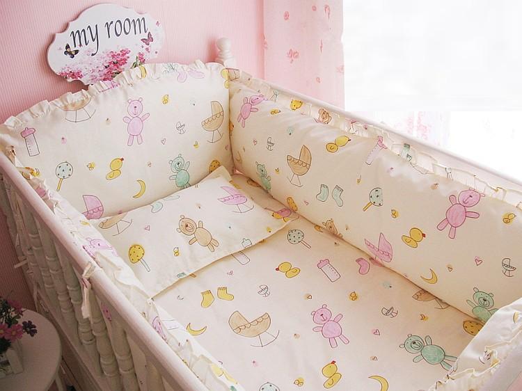 [해외]추진 6 / 7PCS 아기 침대 세트 아기 침대 범퍼 아기 침대는 120 * 120분의 60 * 70cm 100 %면 침대 범퍼를 설정/Promotion 6/7PCS baby cot sets baby bed bumper baby bedding set 100% c