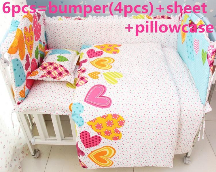 [해외]추진 6 / 7PCS 어린이 침대 침구 세트 100 % 통기성면 가을과 겨울 아기?? 침구, 120 * 1백20분의 60 * 70cm/Promotion 6/7PCS Crib Bedding set 100% breathable cotton autumn and win