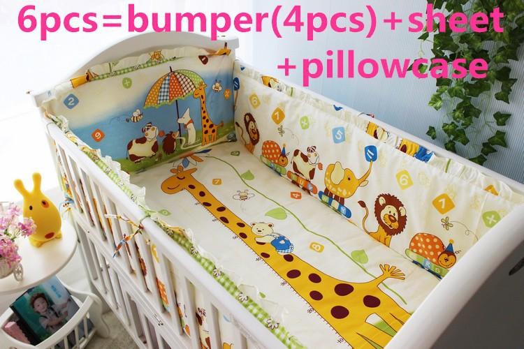 [해외]추진 6 / 신생아 귀여운 소녀 침구 세트 7PCS 키트 어린이 침대 침구 베이비 제품, 120 * 1백20분의 60 * 70cm/Promotion 6/7PCS Kit Crib Bedding Baby Products For Newborn Cute Girls Be