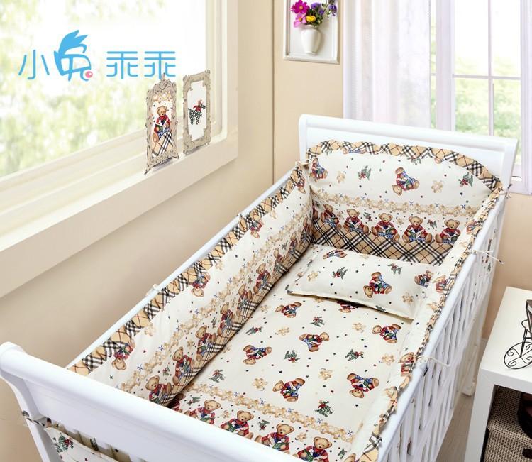 [해외]추진 6 / 7PCS 아기 침구 세트면 아기 이불 러블리 컬렉션, 아기 소녀를 들어 판지 이불 커버 인쇄 120 * 1백20분의 60 * 70cm/Promotion 6/7PCS Baby Bedding Set Cotton Baby Duvet Covet Print