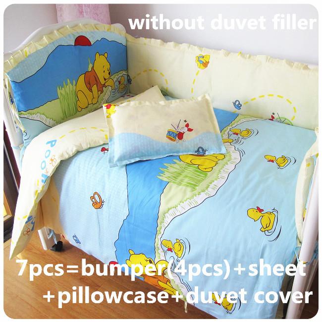 [해외]추진 6 / 7PCS 최고 품질의 아기 침구, 120 * 1백20분의 60 * 70cm 100 % 목화의 실을 뽑아 풀다를 설정하고 세척/Promotion 6/7PCS Top Quality baby bedding set 100% cotton unpick and