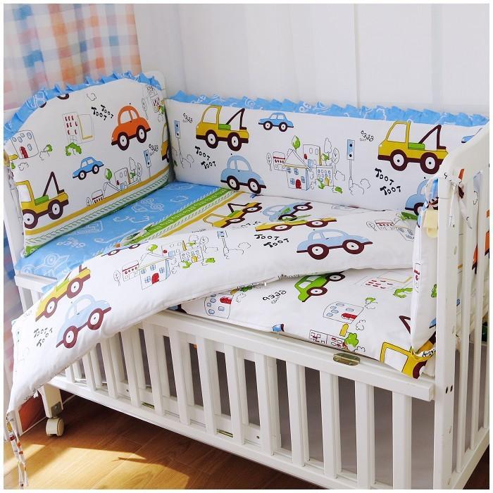 [해외]추진 6PCS 100 % 코튼 소재 아기 침대 아기 침대 침대 (범퍼 + 시트 + 베개 커버)을 설정합니다/Promotion 6PCS 100% Cotton Material Baby Bed Sets Crib Cot For Baby    (bumper+sheet+p