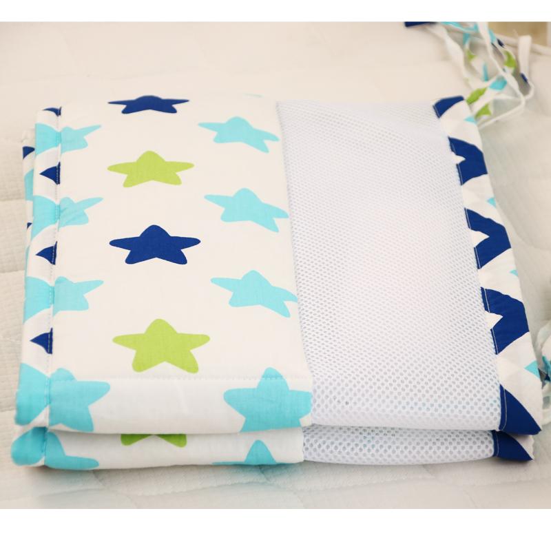 [해외]2 PC 120 * 30cm 여름 통기성 그물 코튼 안티 충돌 아기 범퍼 만화 인쇄 원피스 아기 CIRB 범퍼 아기 침구/2 pcs 120*30cm summer breathable net Cotton Anti-collision Baby Bumper Cartoon