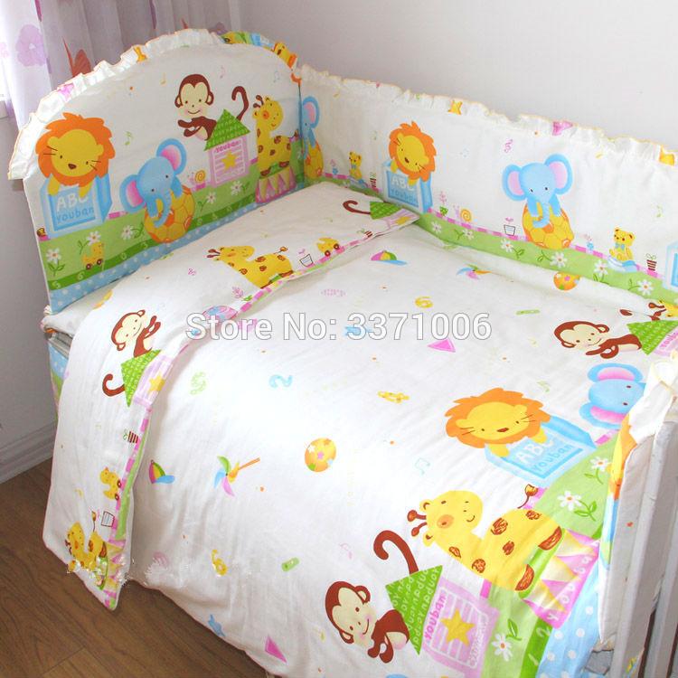 [해외]만화 아기 침대 범퍼 침대 침대 시트 100 % 코튼 짙어지면서 베이비 침대 범퍼 소년과 소녀를4pcs/Cartoon Baby bumpers bed around bedding package bed sheets 100% cotton thickening beauti