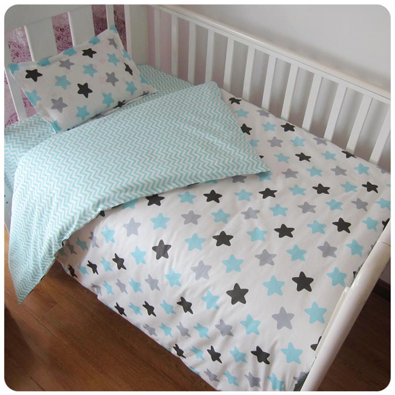 [해외]3pcs 아기 침구 세트 면화 유아용 침대 세트 검정 흰색 줄무늬 패턴 아기 침대 세트 (깃털 이불 커버 포함) 베개 커버 침대 시트/3Pcs Baby Bedding Set Cotton Crib Sets Black White Stripe Cross Pattern