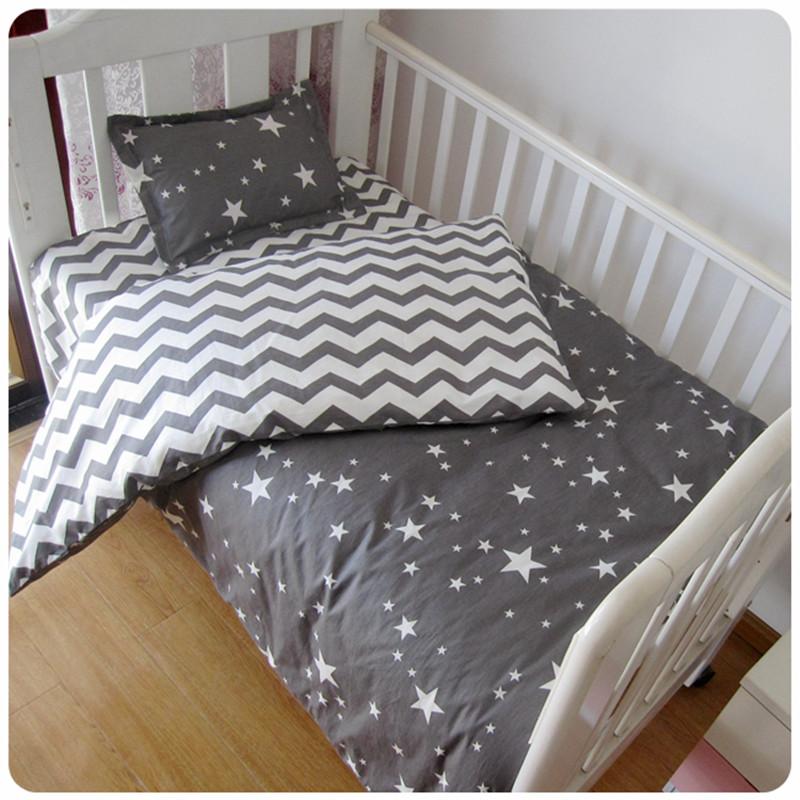 [해외] 3 개 100 % 코튼 유아용 침대 시트 린넨 키트 만화 베이비 침구 세트는 필로우 케이스 침대 시트 포함 필러없이 이불 커버/Free shipp 3 Pcs 100%Cotton Crib Bed Linen Kit Cartoon Baby Bedding Set In