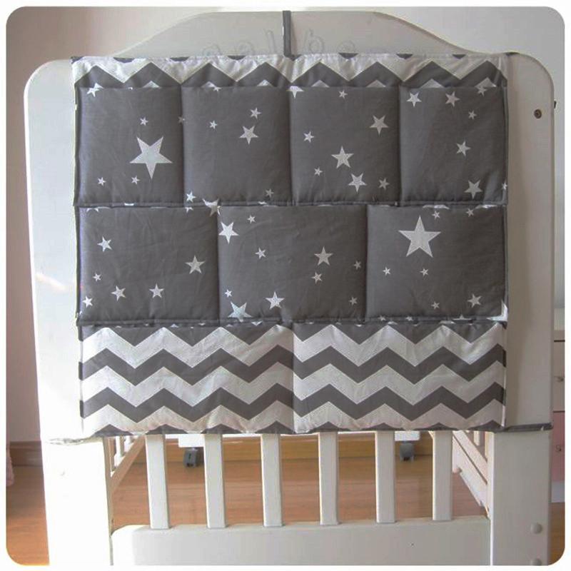 [해외]?새 아기 침대 침대 교수형 저장 봉투 어린이 침대 주최자 저장 봉투 60 * 50cm 침대 기저귀 포켓 침구 세트/ New Baby Cot Bed Hanging Storage Bag Crib Organizer Storage Bag 60*50cm Toy Diap