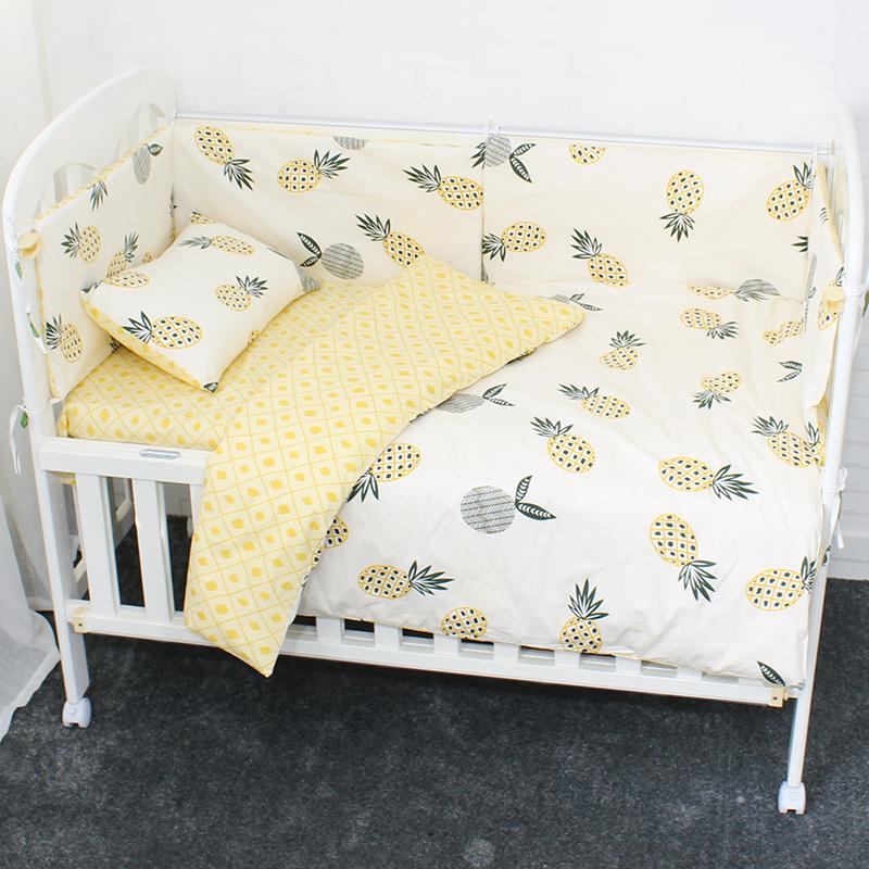 [해외]3 PC 베이비 침대 세트 어린 이용 베드 린넨 순수 목화 유아용 침대 키트에는 깃털 이불 커버가 포함되어 . 여아용 베개 케이스 플랫 시트/3 Pcs Baby Bedding Set Bed Linen For Children Pure Cotton Crib Cot