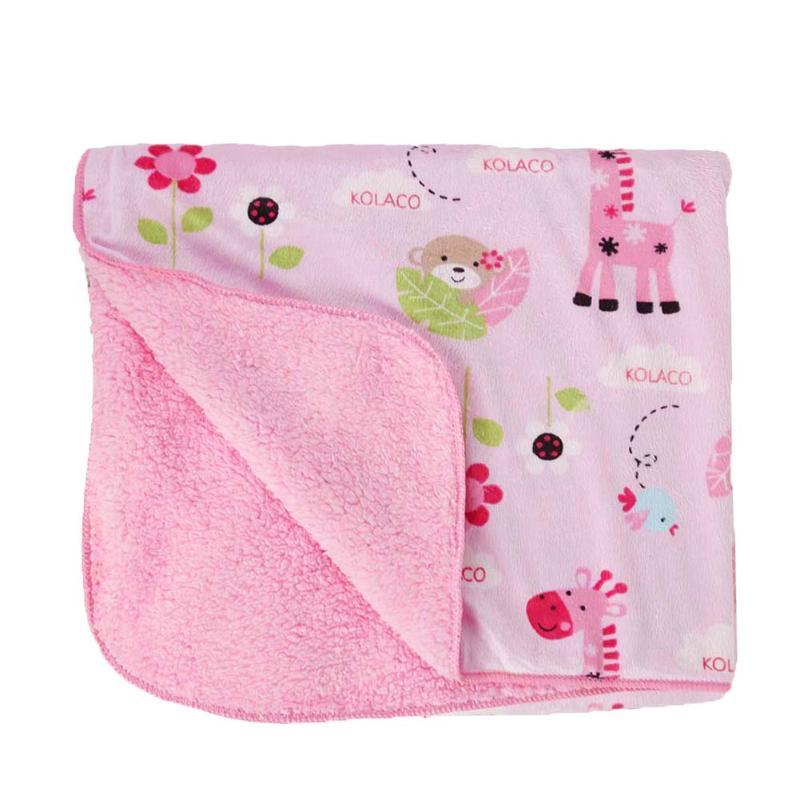 [해외]아기 담요 만화 동물 인쇄 Thicken Baby 유모차 담요 신생아 Swaddling 더블 레이어 침구/Baby Blanket Cartoon Animal Print Thicken Baby Stroller Blanket Newborn Swaddling Doubl