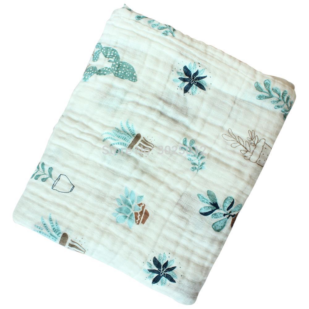 [해외]코 튼 Muslin Swaddle 담요 보육을통기성 아기 담요 Multi Use 아기 담요 아기 담요 120 * 110cm/Cotton Muslin Swaddle Blankets Breathable Baby Blankets for Nursery Multi Use