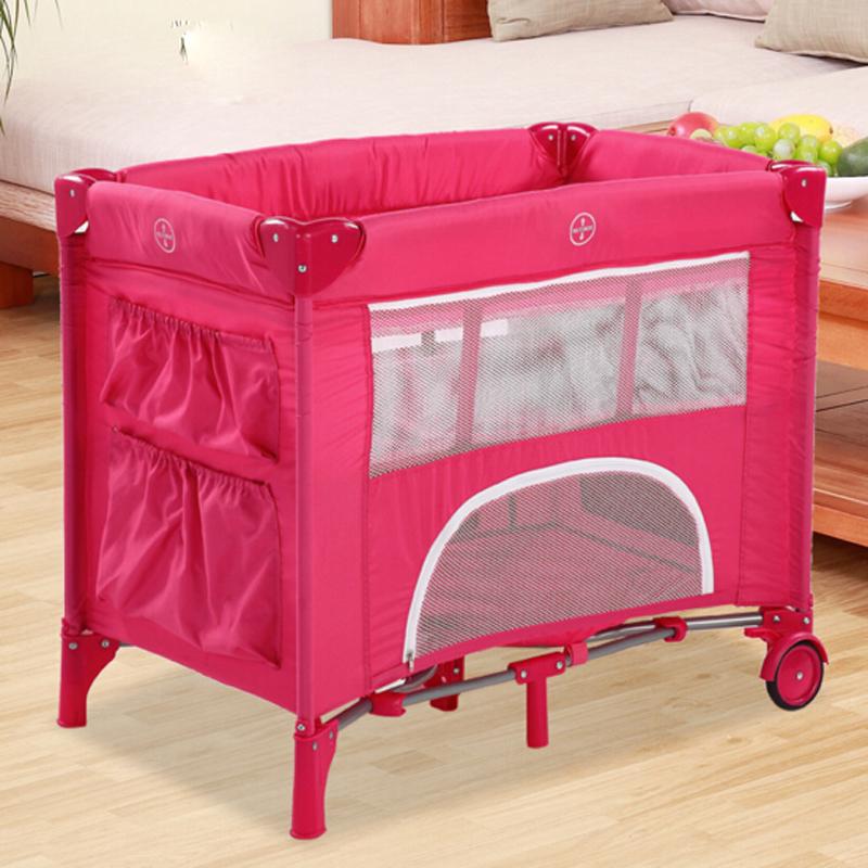 [해외]수 geniune 새로운 브랜드의 새로운 아기 침대 어린이 침대 소형 및 휴대용 접이식 아기 침대 침대 놀이 틀 침대/Geniune New Brand New Baby Bedding Cribs Compact and Portable Collapsible Baby B
