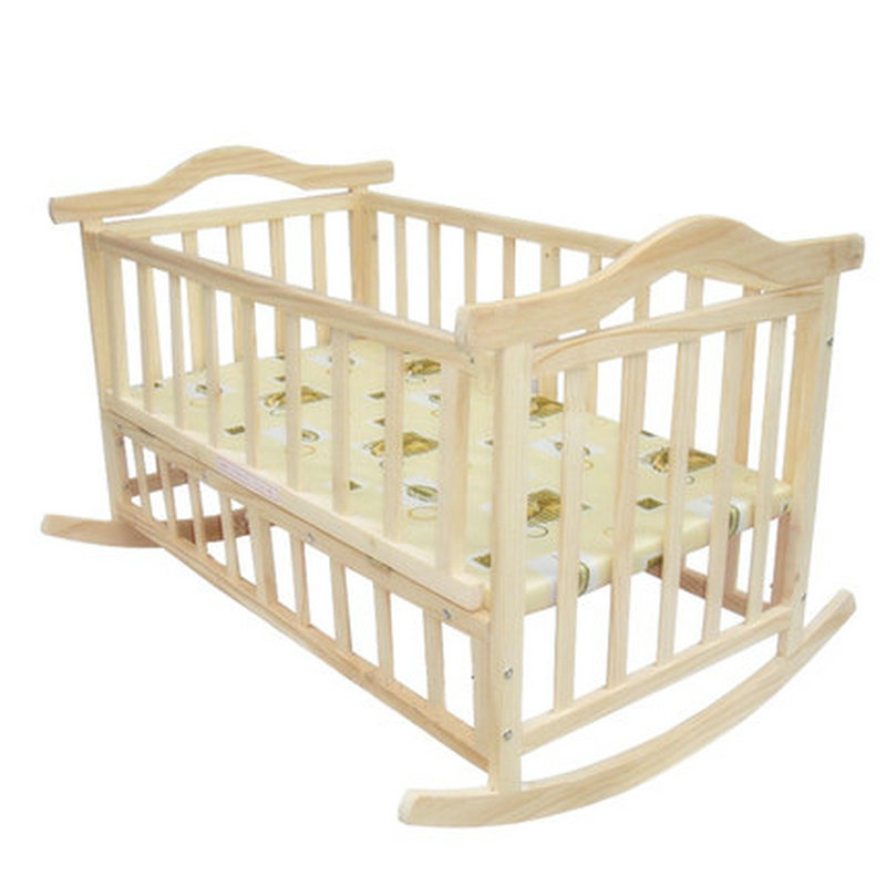 [해외]여분 큰 크기 아기 침대, 길이 120cm는, 성인을 페인트 할 수 없다, 아기 어린이 침대, 신생아 아기 요람, 흔들 침대/extra big size baby bed, length 120cm, can load adult, no paint baby crib ne