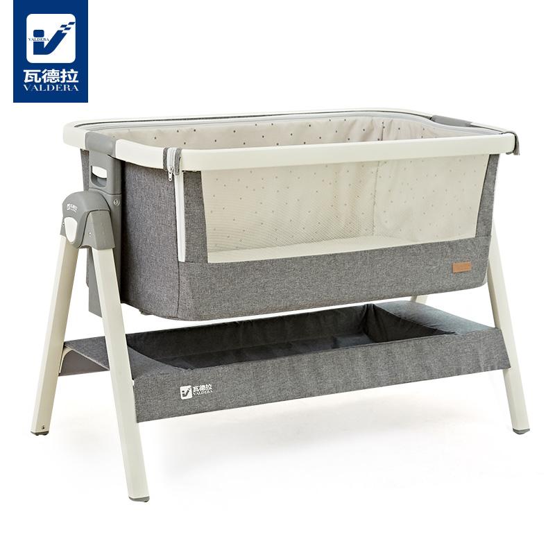 [해외]Valdera 유아용 침대 접이식 유럽식 아기 침대 다기능 신생아 유아용 침대/Valdera Crib Folding European Baby  Bed Multifunctional Newborn Crib