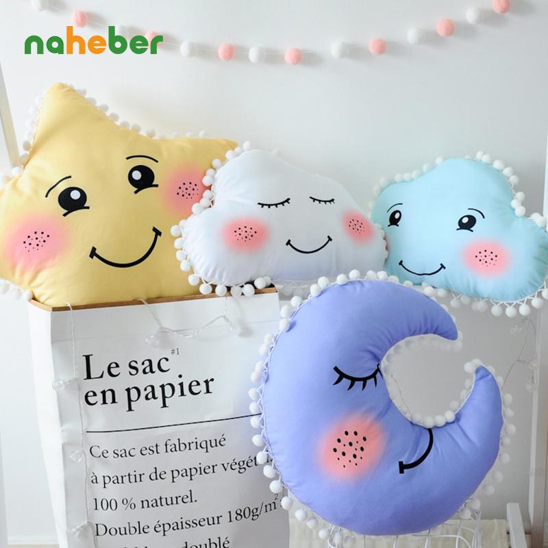 [해외]아기 베개 클라우드 스타 문 베이비 컴포트 신생아 베이비 룸 장식 어린이 & 쿠션 봉제 인형 크리스마스 선물/Baby Pillows Cloud Star Moon Baby Comfort For Newborns Baby Room Decoration Child