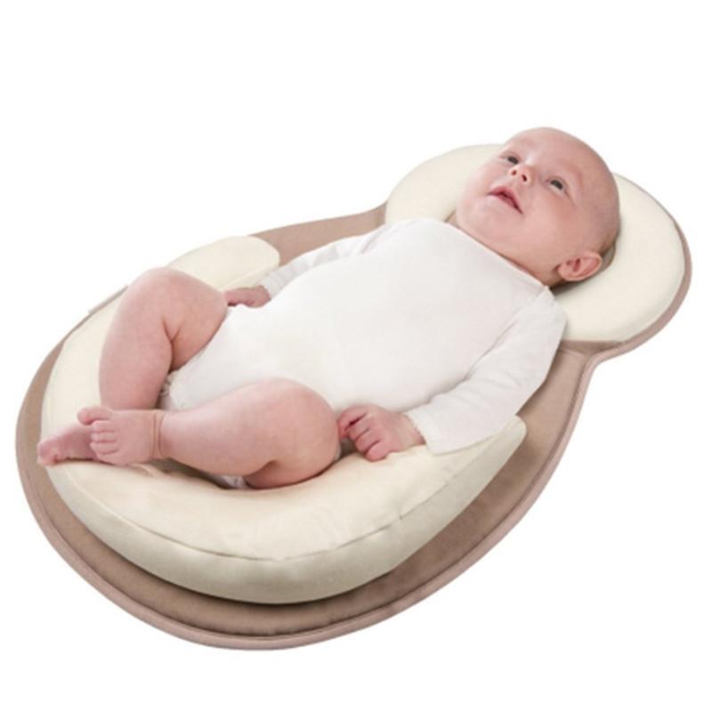 [해외]신생아 유기 코튼 아기 보호 베개 아기 수면 패드 수유 베개 방지 롤오버 매트리스 패드 완구 0-12 개월/Newborn Organic Cotton Baby Protection Pillow Baby Sleeping PadNursing Pillows Anti-ro