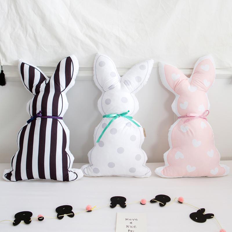 [해외]INS 미니멀리스트 스타일의 만화 토끼 베개 인형 베이비 수딩 베개 소파 쿠션 아기 아이 룸 장식/INS minimalist style cartoon Rabbit pillow Doll Baby Soothing pillow sofa cushion baby kid