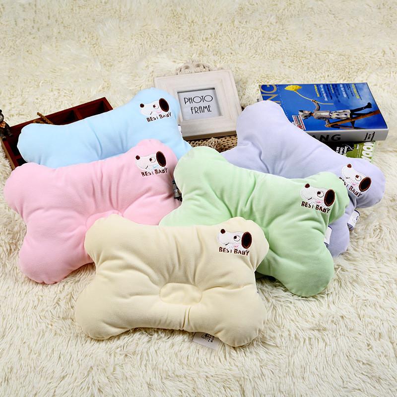 [해외]?유기 코 튼 플랫 헤드 아기 베개 유아 유아 침구 신생아 부드러운 목 베개/ Organic Cotton Flat Head Baby Pillow Infant Toddler Bedding Newborn Soft Neck Pillow