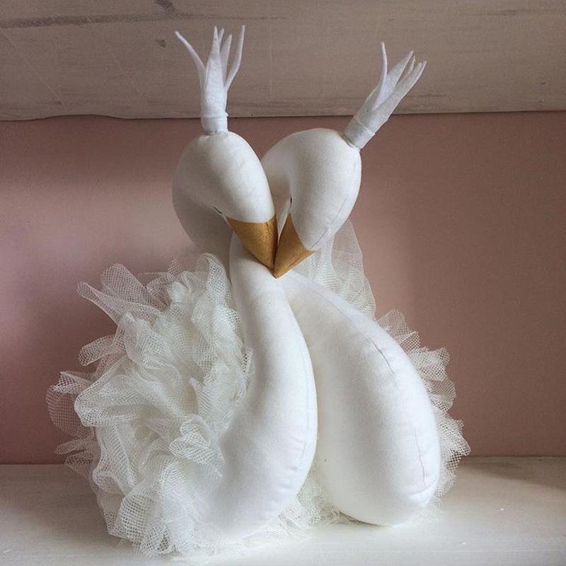 [해외]귀여운 여자 아기를귀여운 레이스 백조 베개 쿠션 방 아기 장식 아기 선물 화이트 핑크 색상/cute lace swan pillow Cushion for girl children kids bed room decoration baby GIFT white pink c