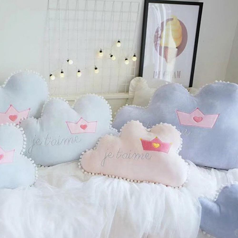 [해외]새로운 1pc 구름 모양의 필로우 크라운 패턴 어린이 방 장식 베개 어린이를장난감 드롭/New 1pc Cloud-shaped PillowsCrown Pattern Children&s Room Decorations Pillows Toy For Children dr