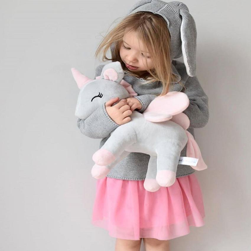 [해외]아기 베개 귀여운 플러시 만화 조랑말 인형 아기 수면 유쾌한 완구 아기 사진 소품 베개 베이비 룸 장식/Baby Pillow Cute Plush Cartoon Pony Doll Baby Sleep Appease Comfort Toys Baby Photograph
