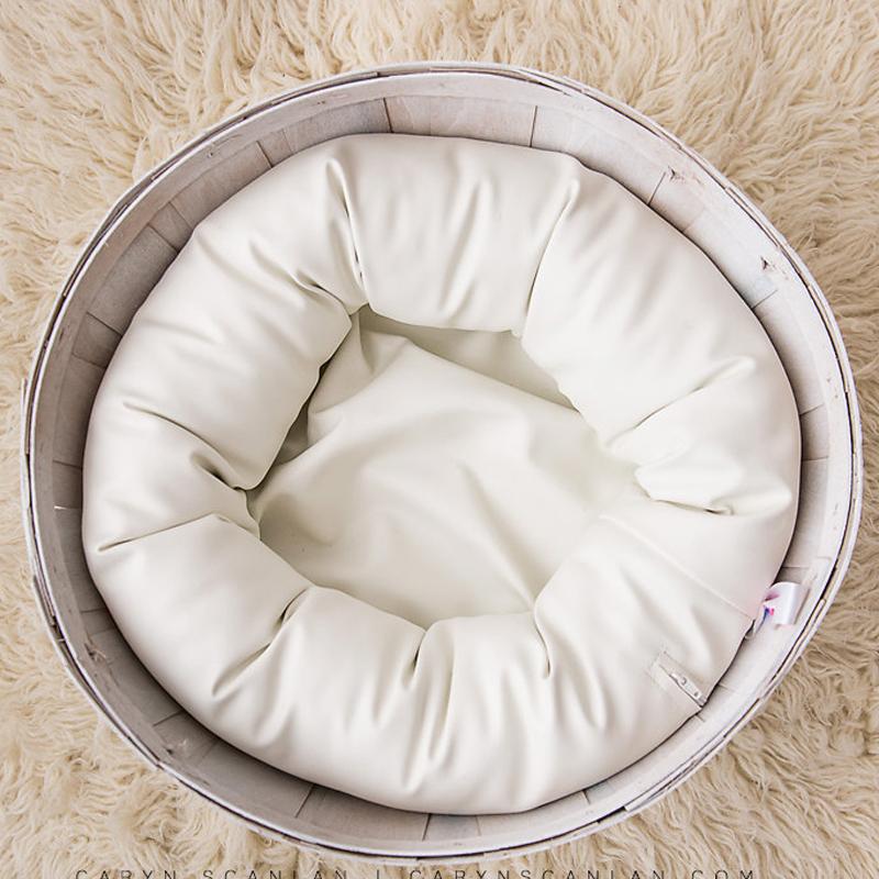 [해외]PU 가죽 O 유형 콩 가방 아기 사진 스튜디오를쏴 Flokati 신생아 사진 소품 바구니 액세서리/PU Leather O Type Bean Bag Baby Photo Shoot For Studio Flokati Newborn Photography Props B