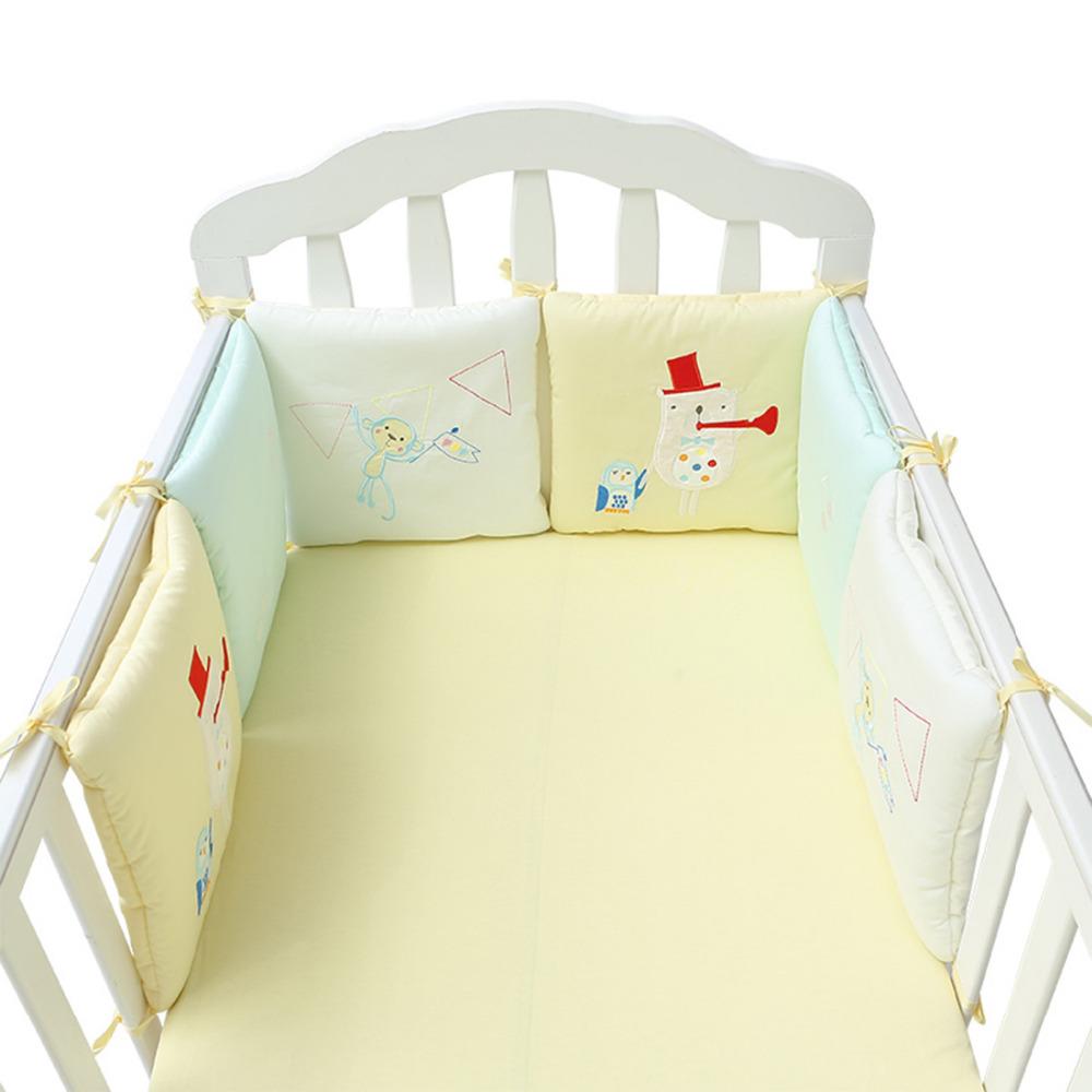 [해외]6Pcs / 12Pcs 아기 침대 프로텍터 유아 침대 범퍼 패드면 혼합 아기 침구 안전 레일 아기 침대 범퍼 아기 침대 범퍼/6Pcs/12Pcs Baby Bed Protector Crib Bumper Pads Cotton Blend Baby Bedding Saf