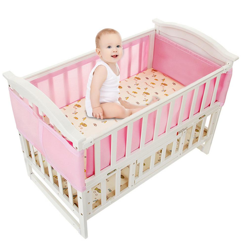 [해외]핫 세일 통기성 메쉬 어린이 침대 라이너 사계절 3D 통풍 아기 Anti-Collision 침대 키트 분리형 샌드위치 어린이 침대 라이너/Hot sale Breathable Mesh Crib Liner Four Seasons 3D Breathable Baby A