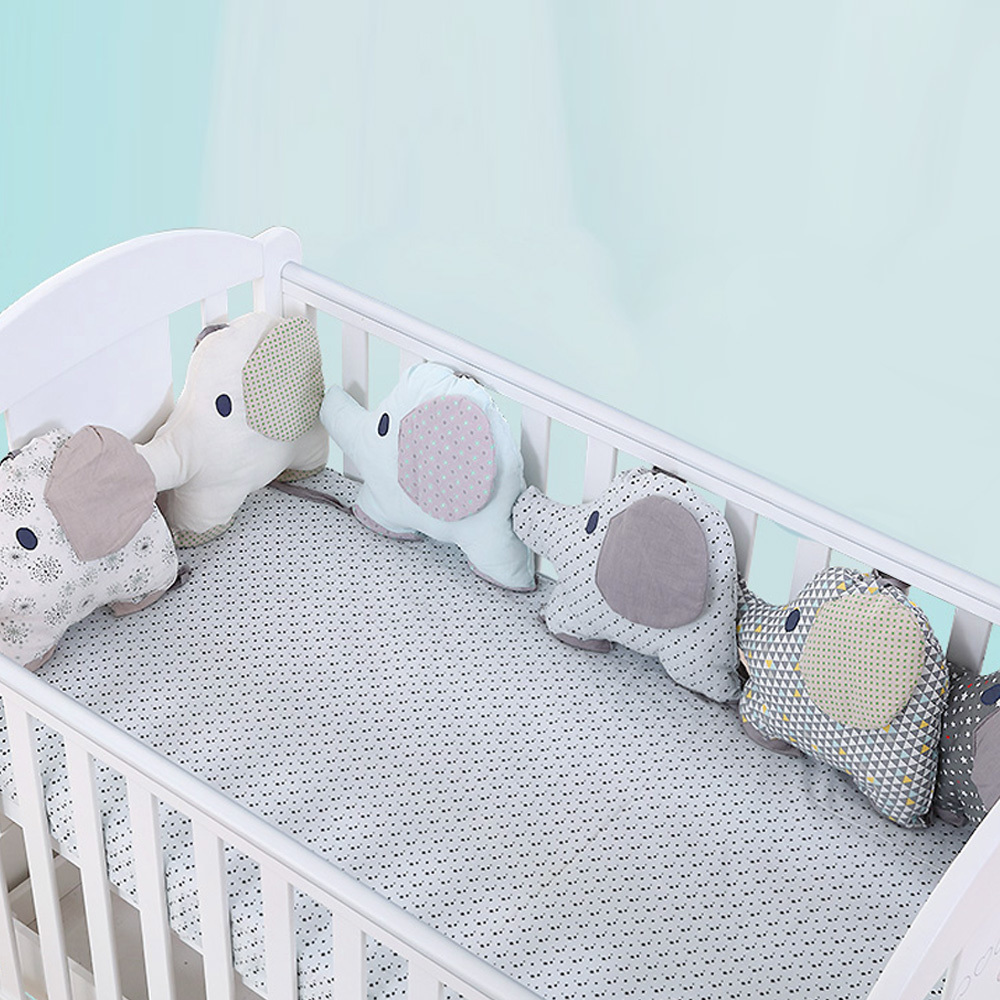 [해외]6PCS 아기 침대 범퍼 유연한 조합 등 받침 쿠션 Aimal 코끼리 어린이 침대 범퍼 부드러운 유아 침대 주변 보호 아기 장난감/6PCS Baby Bed Bumper Flexible Combination Backrest Cushion Aimal Elephant